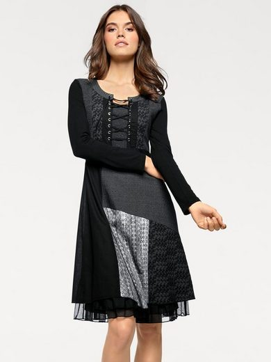 Linea Tesini By Heine Patch Dress With Lacing