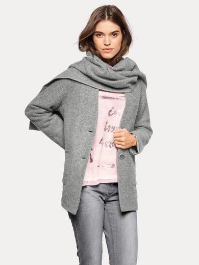 LINEA TESINI by Heine Wolljacke mit passendem Schal