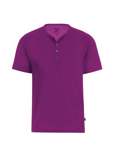 Trigema T-Shirt mit Knopfleiste DELUXE Baumwolle