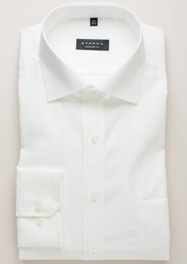 Eterna Long Sleeve Shirt Plain Comfort Fit
