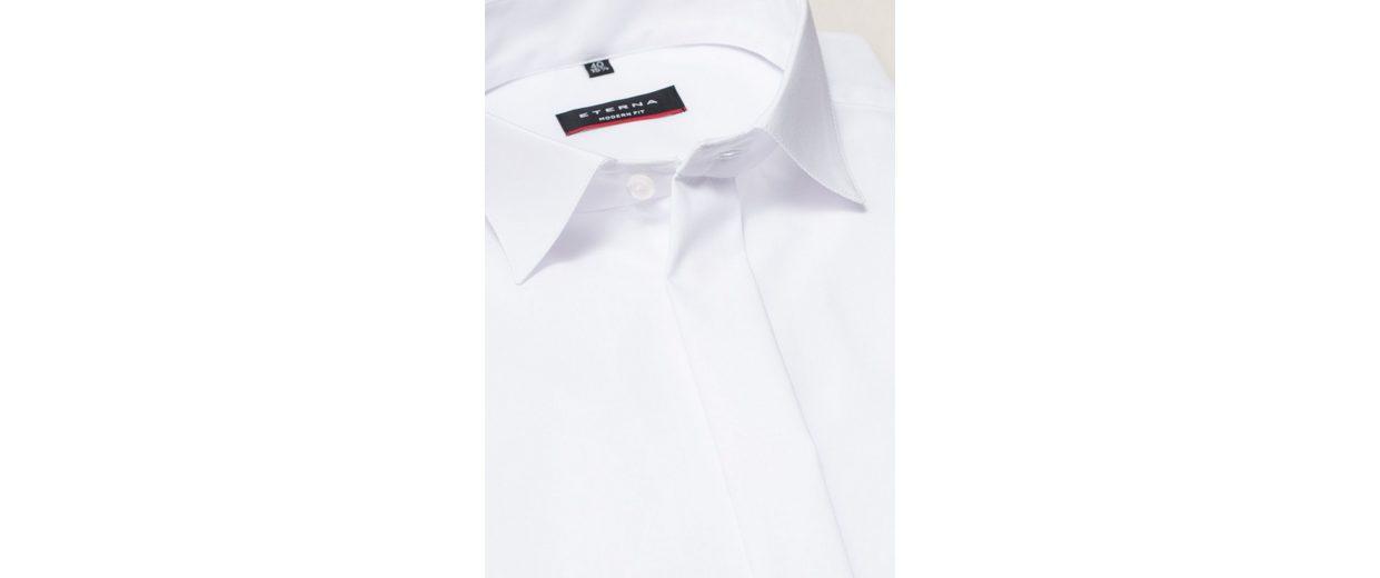 Auslass-Angebote ETERNA Langarm Hemd MODERN FIT Chambray unifarben Marktfähig uy5Pyqs7A