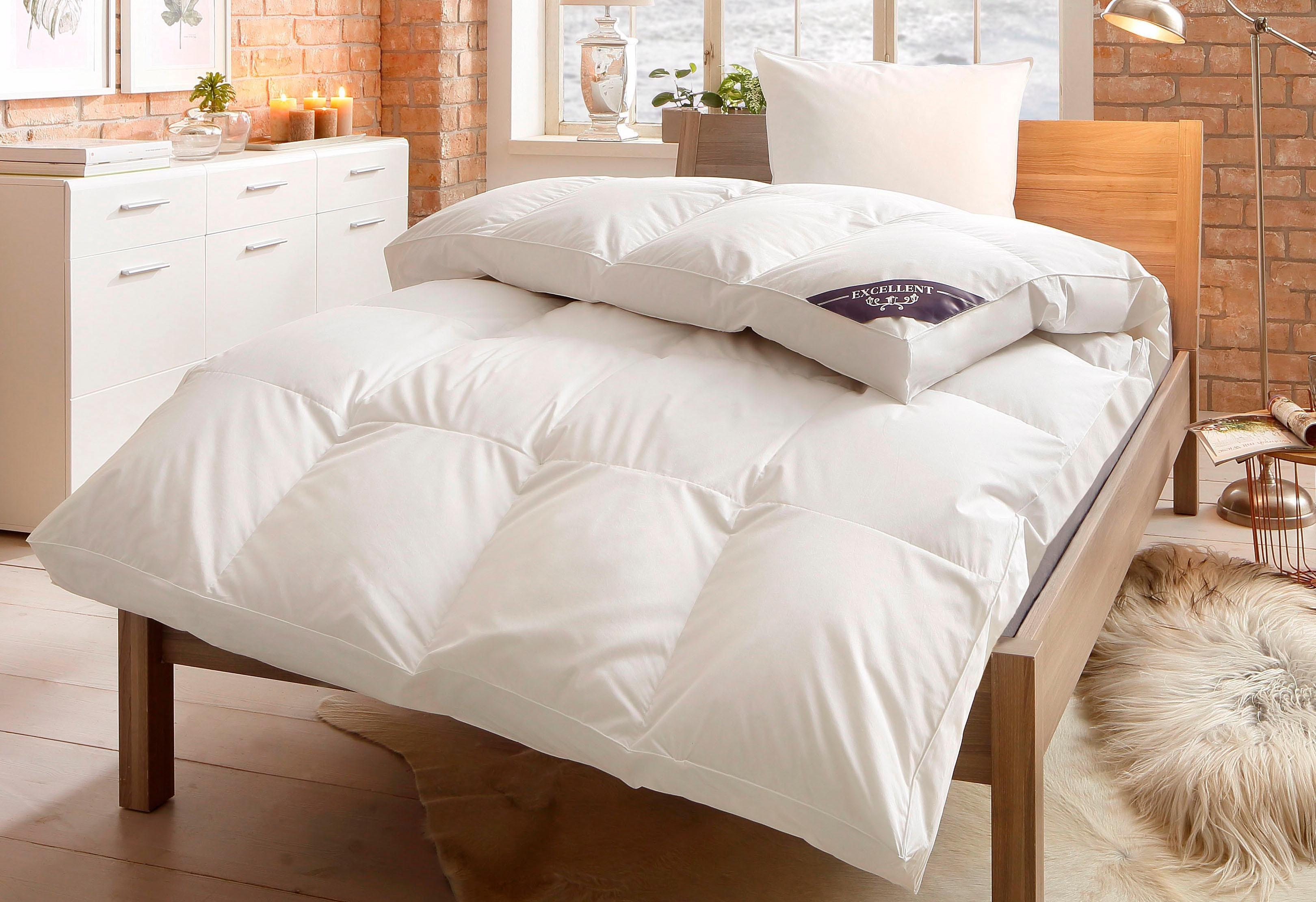 Daunenbettdecke, »First Class«, Excellent, polarwarm, Füllung: 100% Daunen, (1-tlg) | Heimtextilien > Decken und Kissen > Bettdecken | Excellent