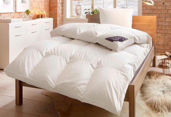 Daunenbettdecke + Kopfkissen, »Komfort«, Excellent, polarwarm, Material Füllung: Entendaune/-feder, (Set)