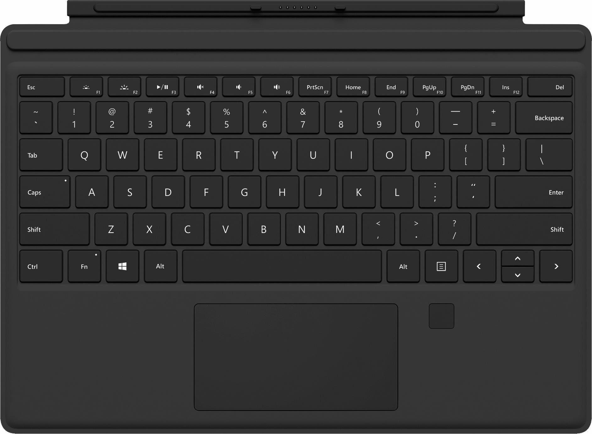Microsoft Surface Pro Tastatur mit Fingerprint ID Type Cover