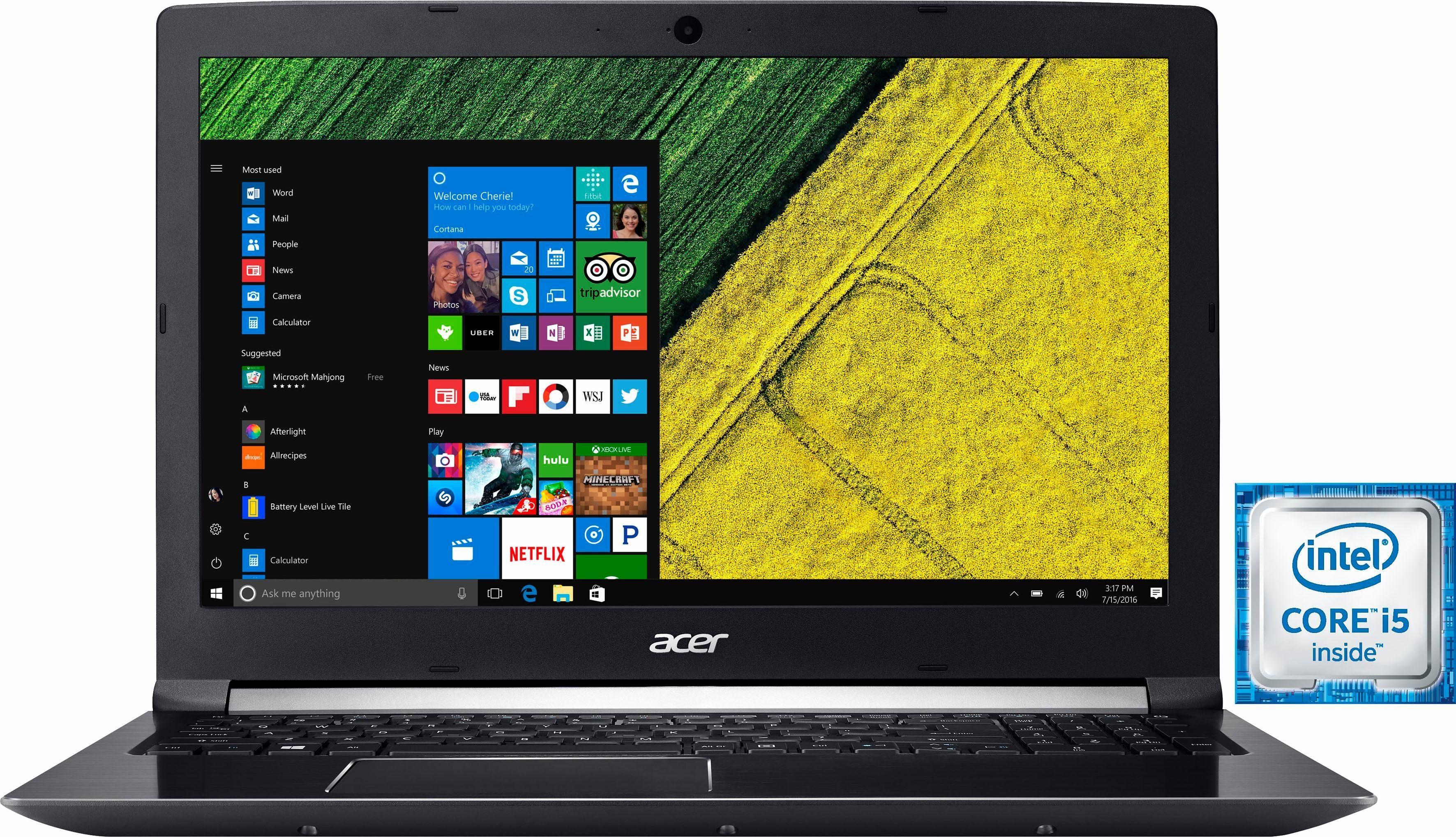 Acer Aspire A715-71G-58SE Notebook, Intel® Core™ i5, 39,6 cm (15,6 Zoll), 1128 GB Speicher