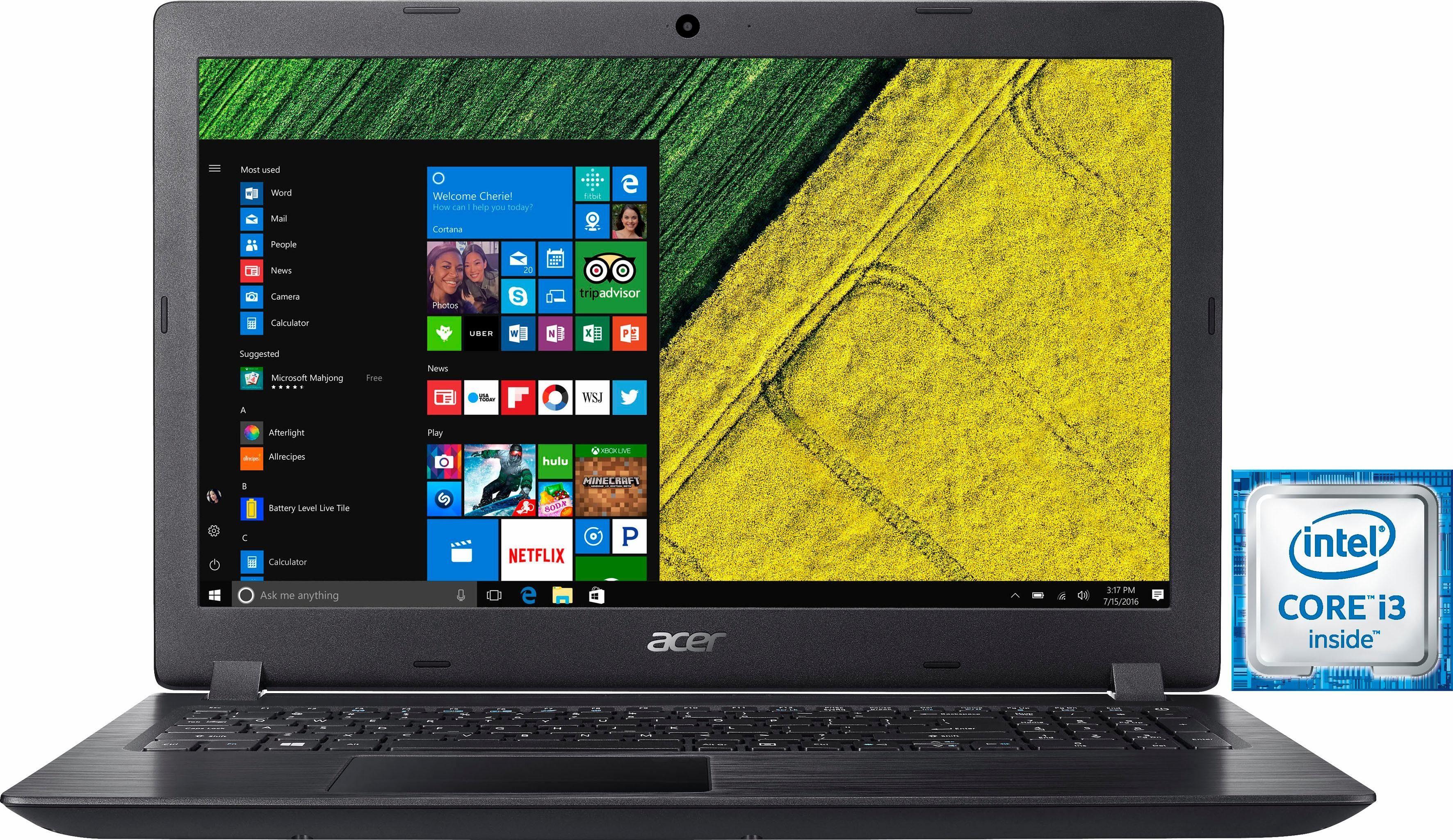 Acer Aspire A315-51-36R1 Notebook, Intel® Core™ i3, 39,6 cm (15,6 Zoll), 1000 GB Speicher