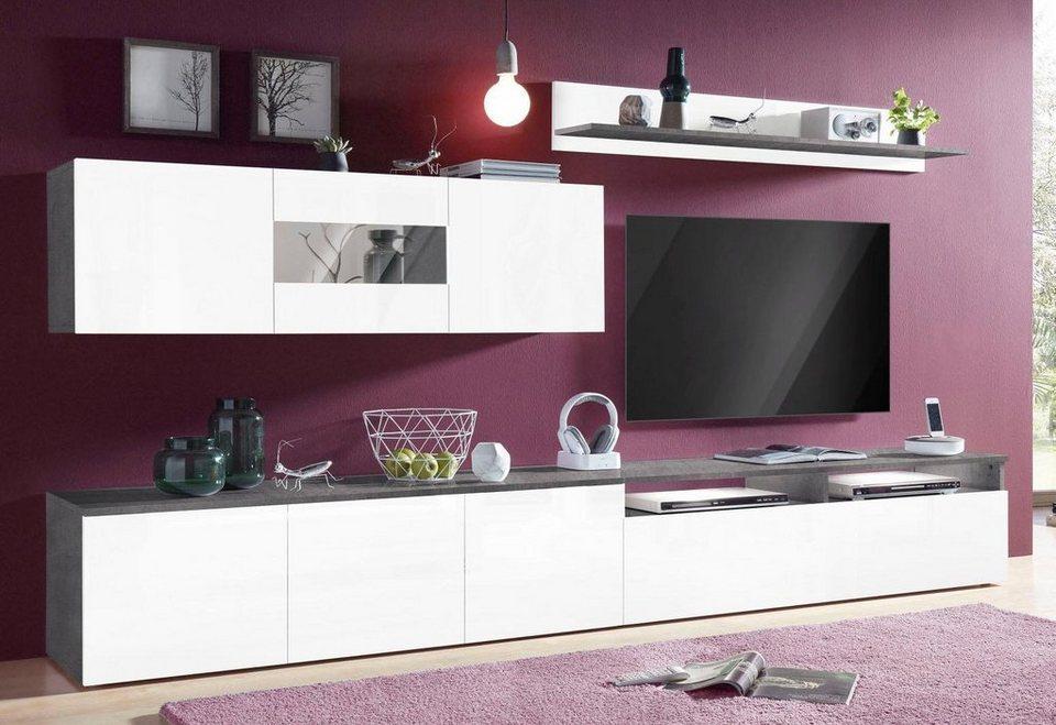 tecnos wohnwand 3 tlg online kaufen otto. Black Bedroom Furniture Sets. Home Design Ideas