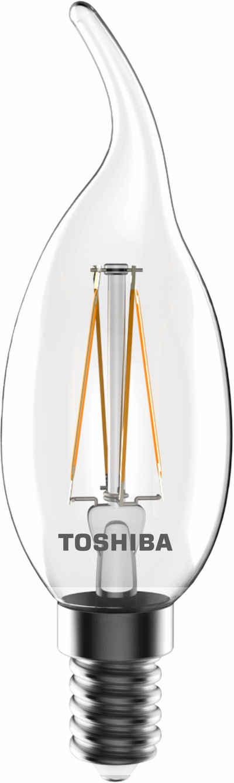 Toshiba »Kerze Windstoß« LED Leuchtmittel, E14, 4 Stück, Warmweiß