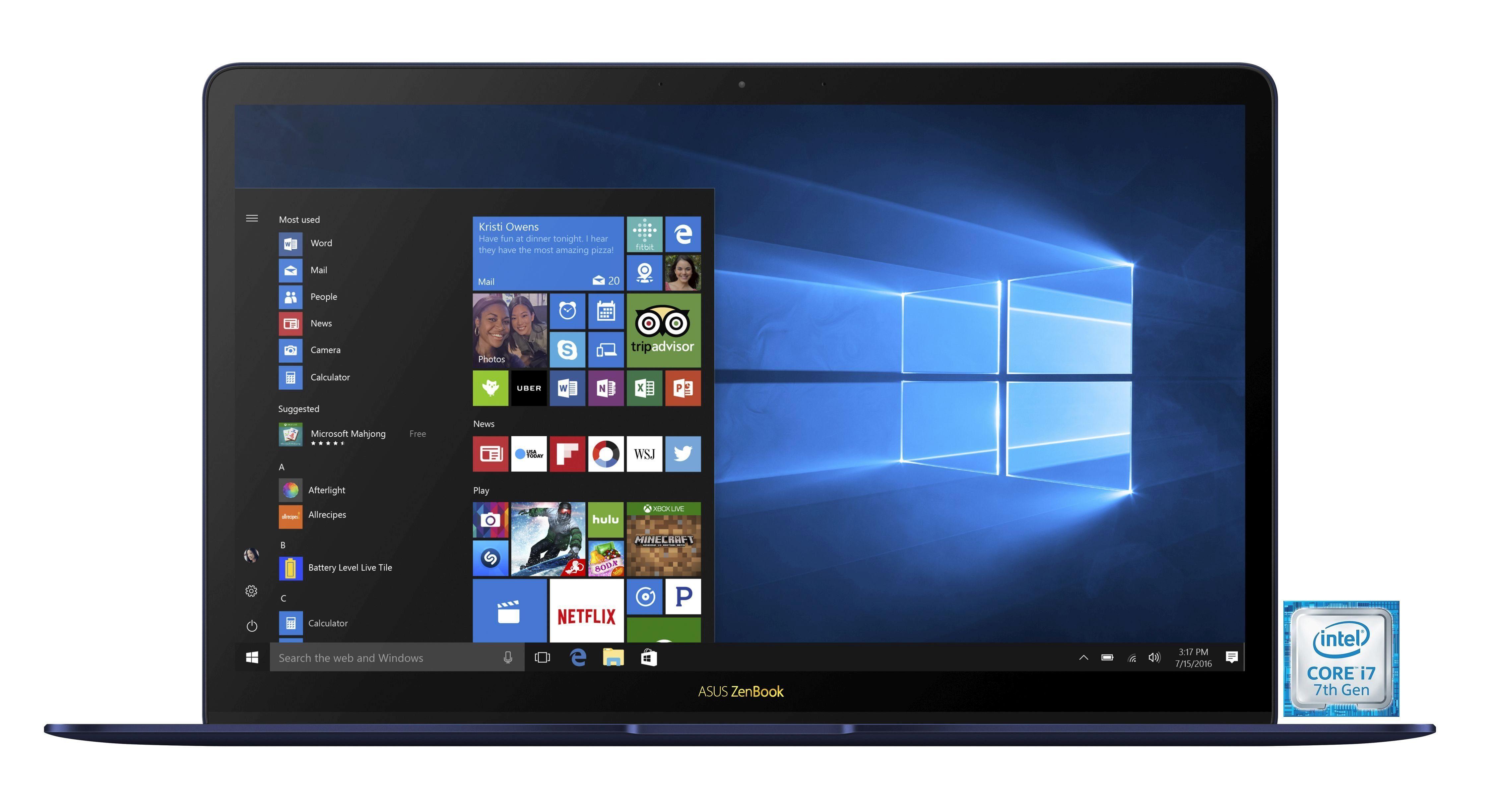 """ASUS ZenBook 3 Deluxe UX490UA »Intel Core i7, 35,56 cm (14""""), 512 GB SSD, 16 GB«"""