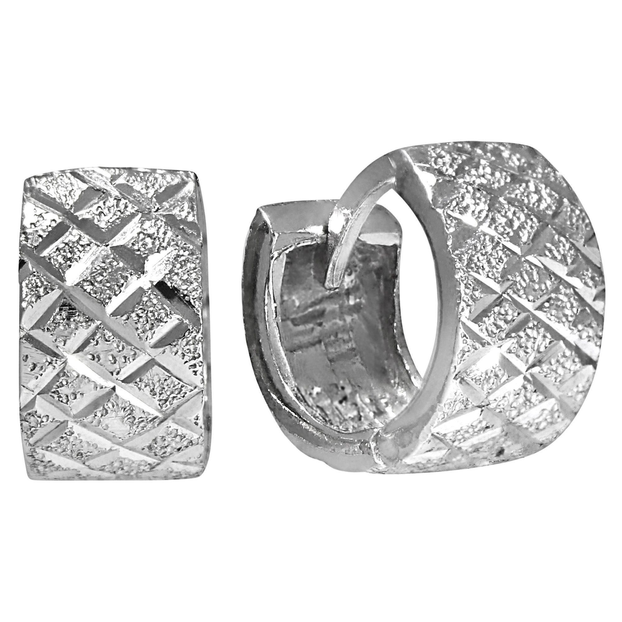 Firetti Klappcreolen »925/- Sterling Silber rhod diamantiert«