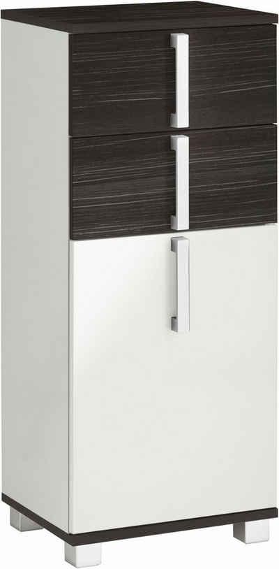 Schildmeyer Unterschrank »Kampen« Breite 40 cm, Badezimmerschrank mit Metallgriffen, Tür mit Soft-Close-Funktion, wechselbarer Türanschlag und 2 praktische Schubladen