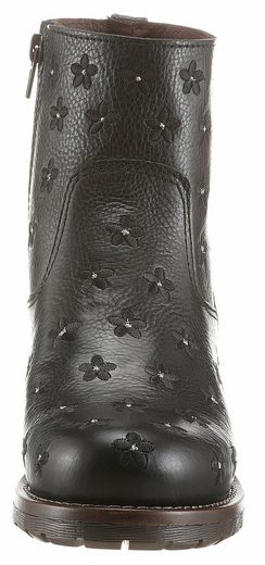 Brako Ankle Boot, With Subtle Flower Embroidery