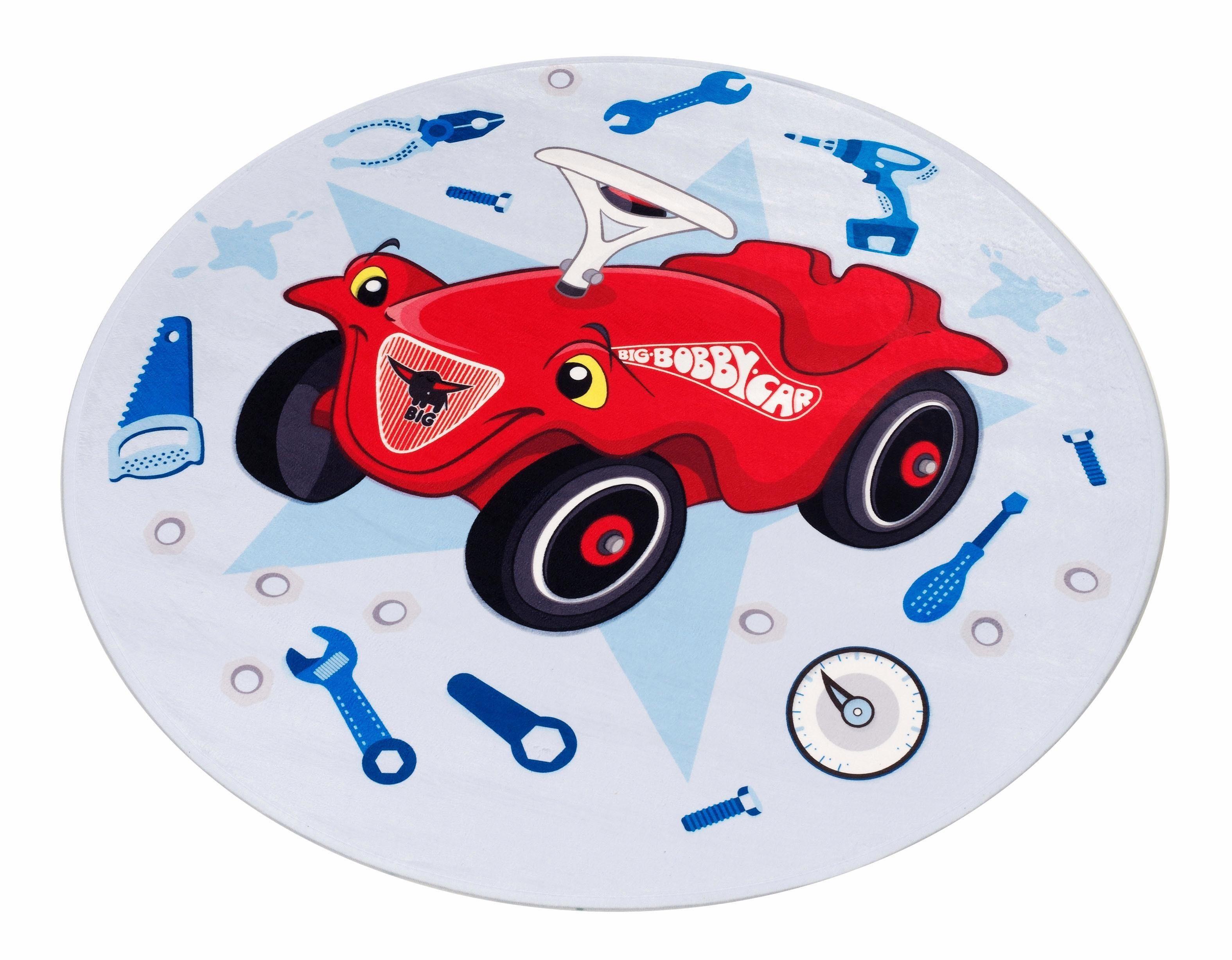 Kinderteppich »Bobby Car 102«, Bobby Car, rund, Höhe 6 mm