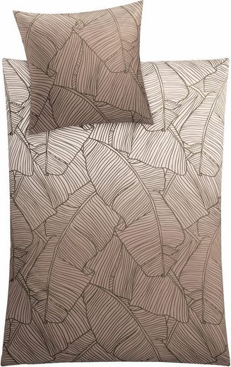 Bettwäsche »Vero«, Kleine Wolke, mit Palmenblattmuster