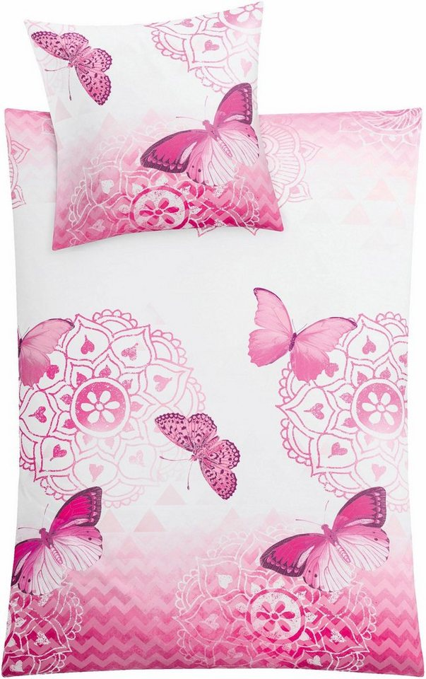 Bettwäsche »Papillon«, Kleine Wolke, Mit Schmetterlingen