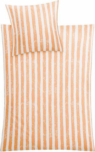 Bettwäsche »Stripe«, Kleine Wolke, mit Streifen
