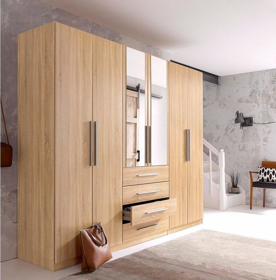 rauch pack s kleiderschrank kempten mit spiegel und. Black Bedroom Furniture Sets. Home Design Ideas
