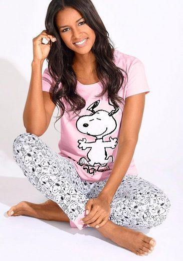 Peanuts Pyjama, mit Snoopy-Print in L-Größen