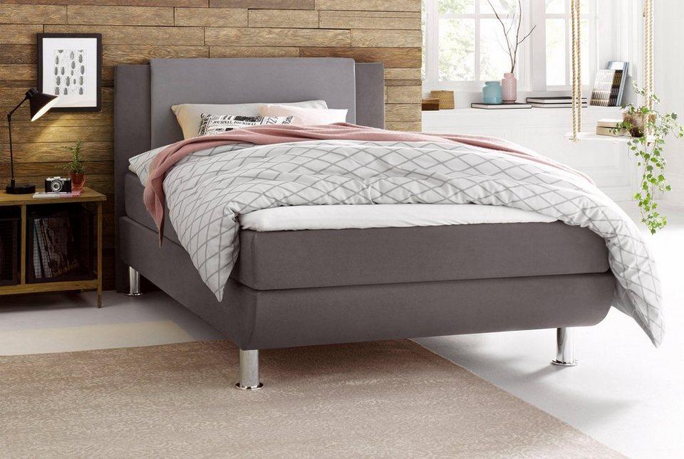matraflex boxspringbett kopfteil mit farblich abgesetzen polsterelement online kaufen otto. Black Bedroom Furniture Sets. Home Design Ideas