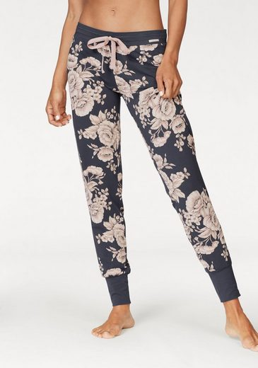 Skiny Pajama Pants Moonlight Sparkle With Floral Pattern