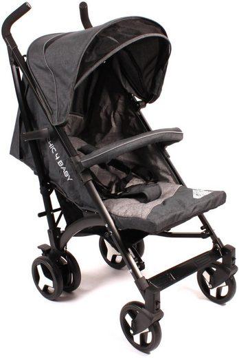 CHIC4BABY Kinder-Buggy »Luca, Jeans darkgrey«, mit verstellbarer Rückenlehne