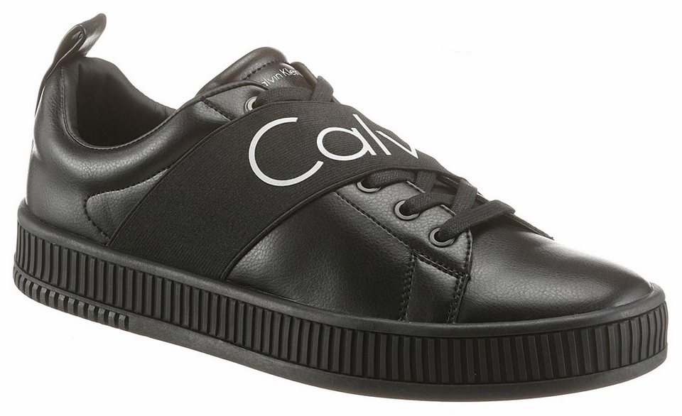 calvin klein milton sneaker mit auff lliger logo. Black Bedroom Furniture Sets. Home Design Ideas