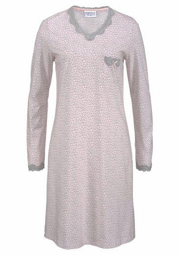 Ringella Schlafkleid im Leoparden-Design mit Spitzendetails