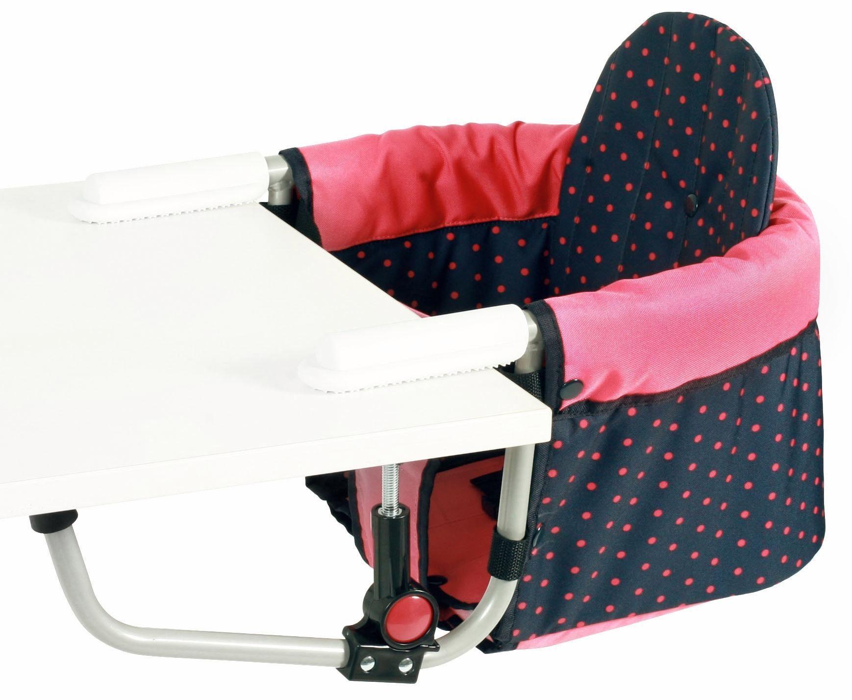 CHIC4BABY Tischsitz mit universellem Befestigungssystem, »Relax, dots koralle«