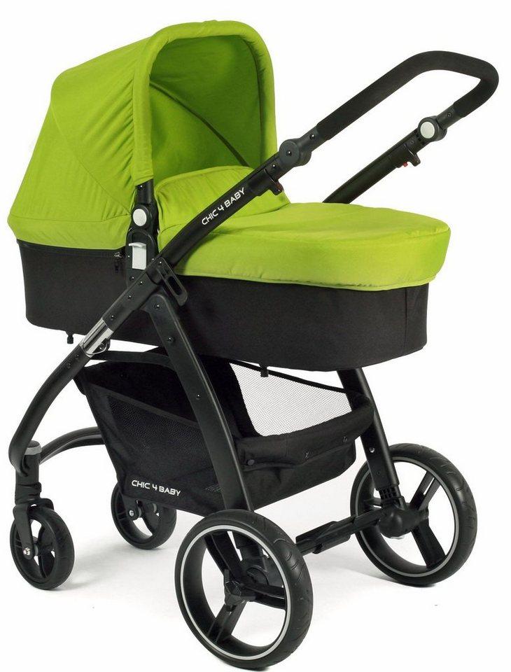 chic4baby kombi kinderwagen inklusive sportsitz volare gr n schwarz online kaufen otto. Black Bedroom Furniture Sets. Home Design Ideas