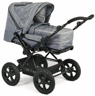 chic4baby kombi kinderwagen mit herausnehmbarer tragetasche viva jeans blue online kaufen otto. Black Bedroom Furniture Sets. Home Design Ideas