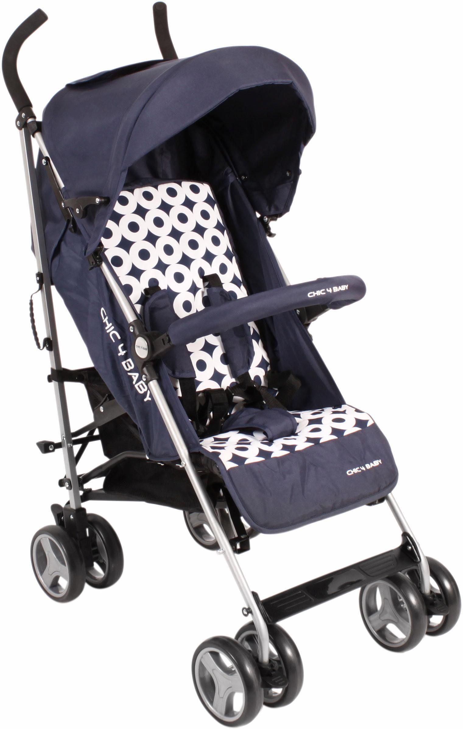 CHIC4BABY Buggy mit verstellbarer Rückenlehne, »Leni, navy blue«