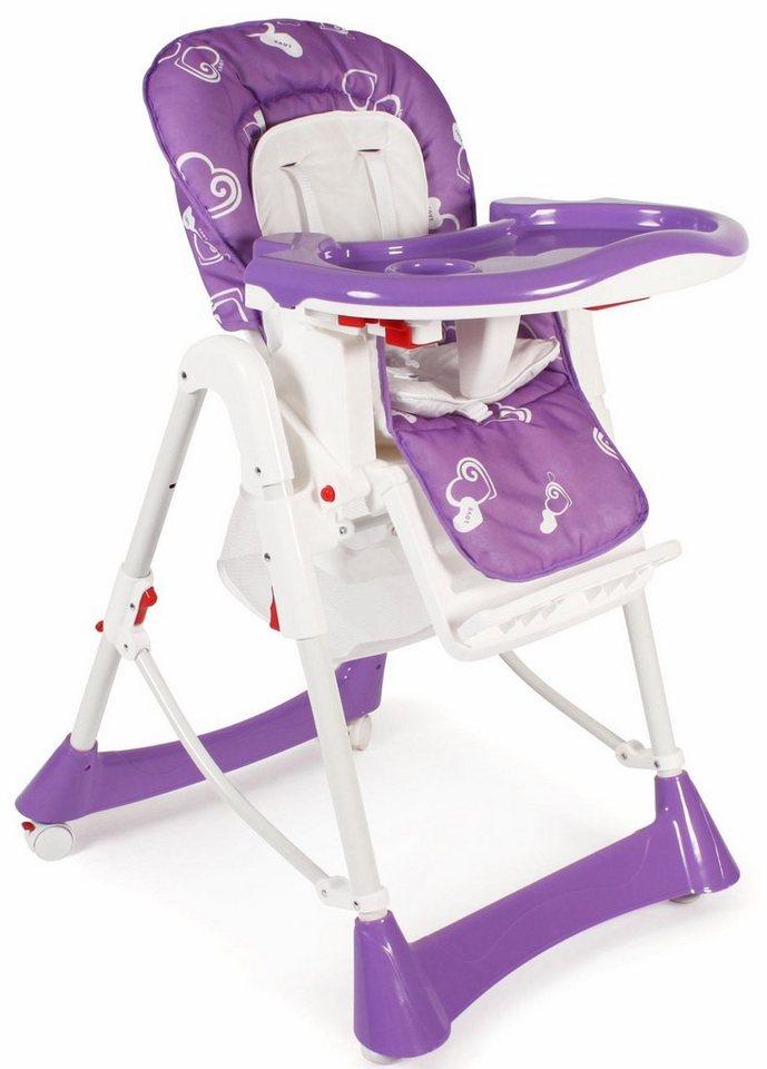 chic4baby hochstuhl mit h henverstellbarem sitz buono lila online kaufen otto. Black Bedroom Furniture Sets. Home Design Ideas