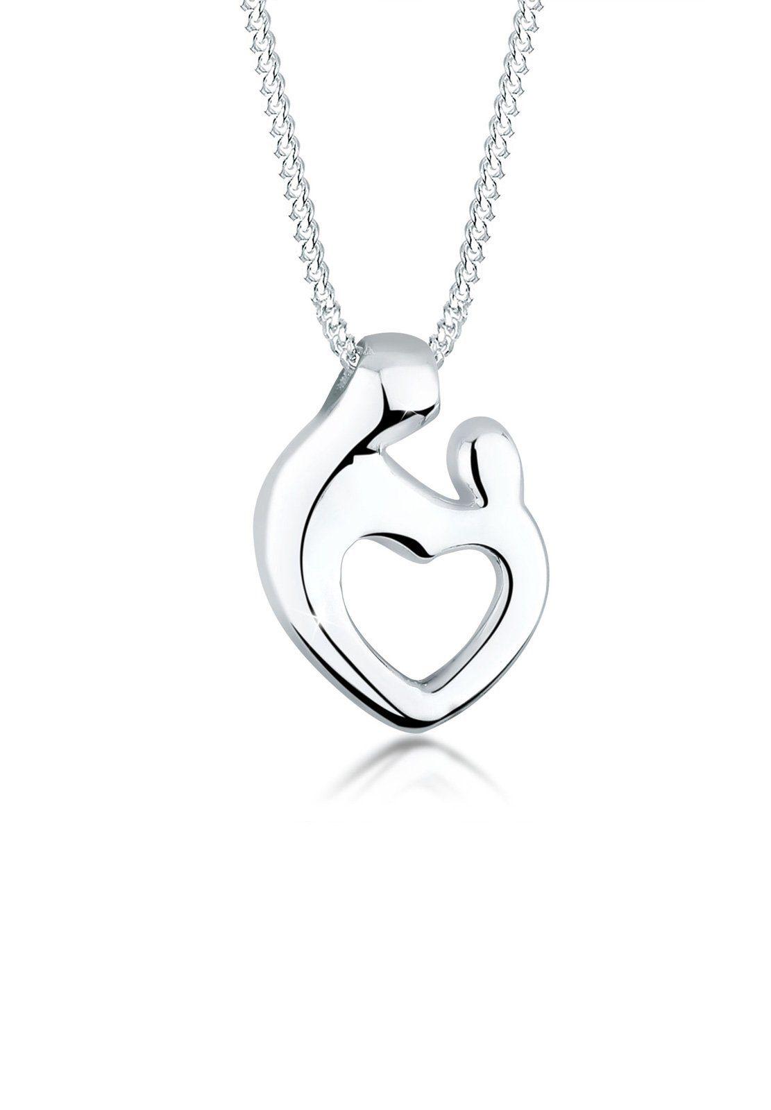Elli Halskette »Mutter & Kind Herz Verbundenheit 925 Silber«