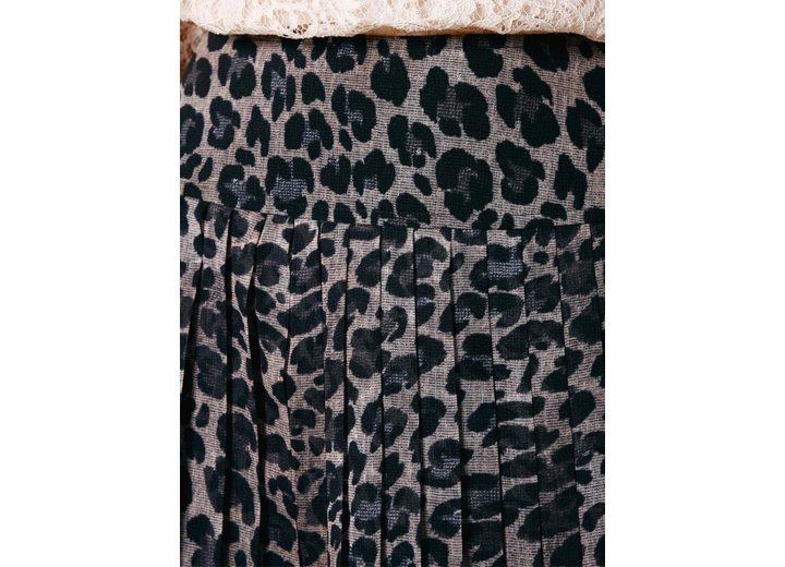 PATRIZIA DINI by Heine Plissee-Rock Animal-Look Billig Verkaufen Bilder 78Z3W