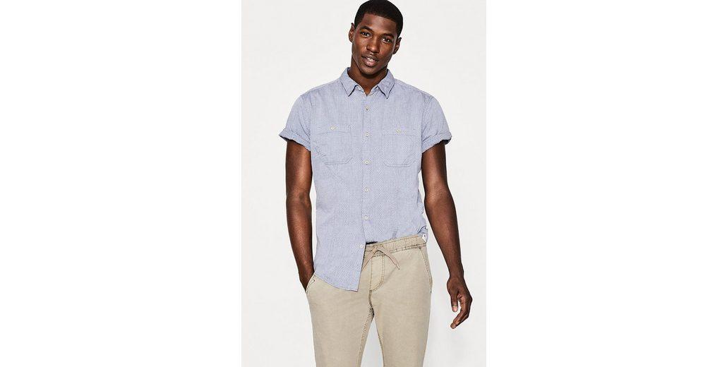 EDC BY ESPRIT Kurzarmhemd aus 100% Baumwolle Erscheinungsdaten Günstigen Preis Neuankömmling Verkauf Shop-Angebot G97LaoW