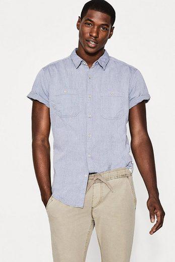 EDC BY ESPRIT Kurzarmhemd aus 100% Baumwolle
