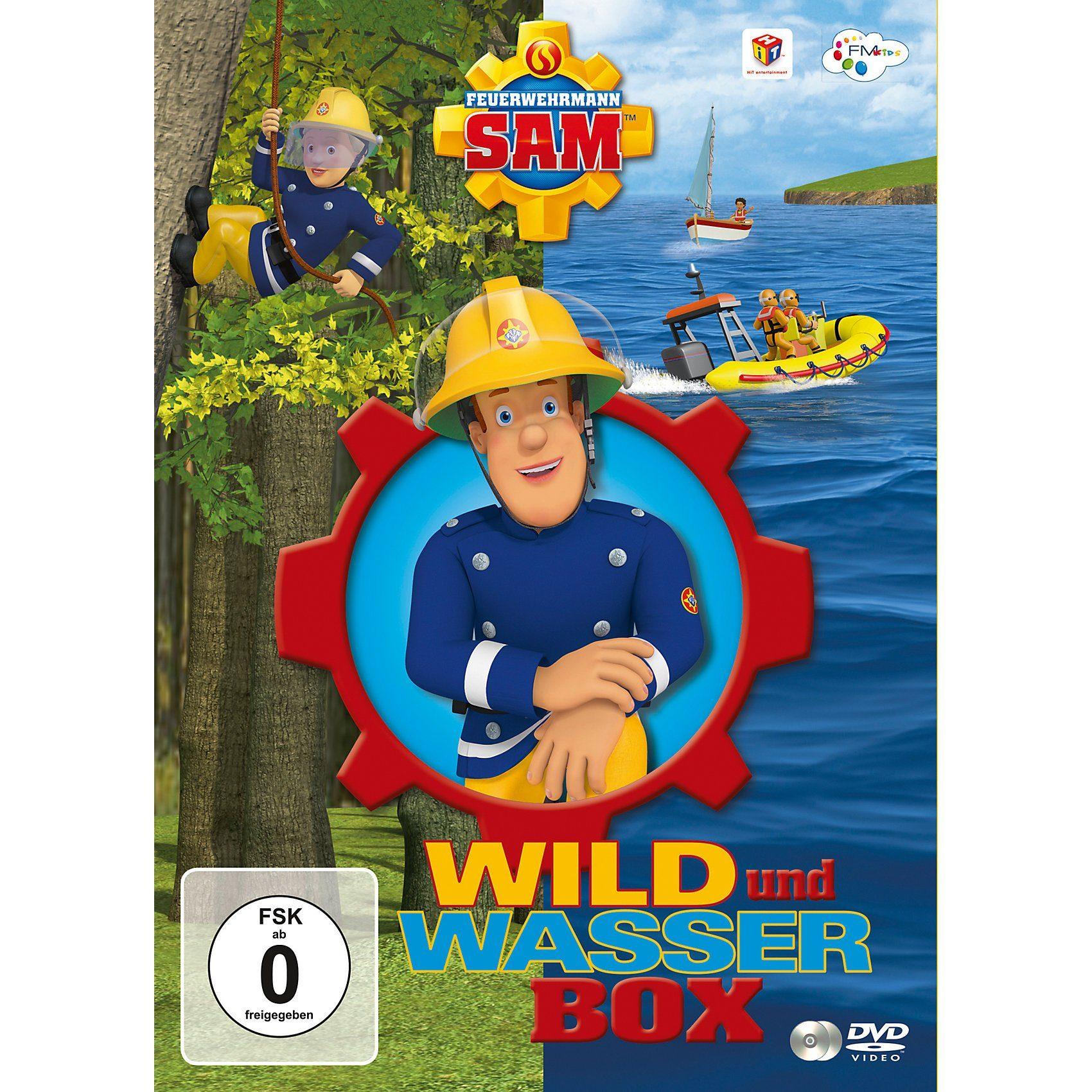 DVD Feuerwehrmann Sam Wild und Wasser Box