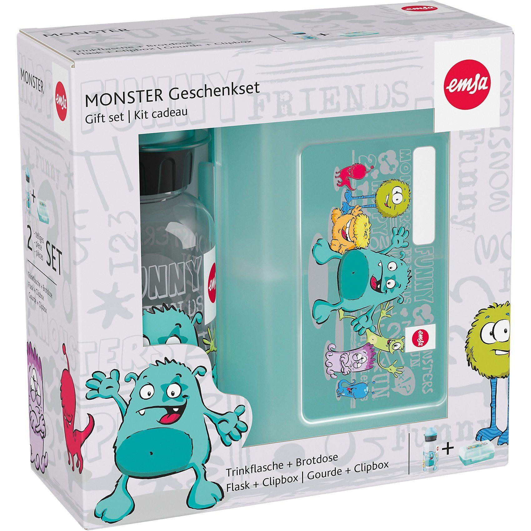 Emsa Pausenset Tritan Monster, 2-tlg.