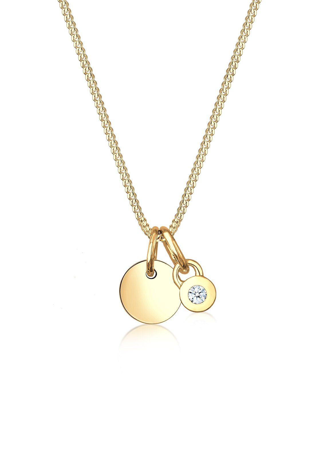 Diamore Halskette »Collier Diamore en cercle diamant 585 or jaune«