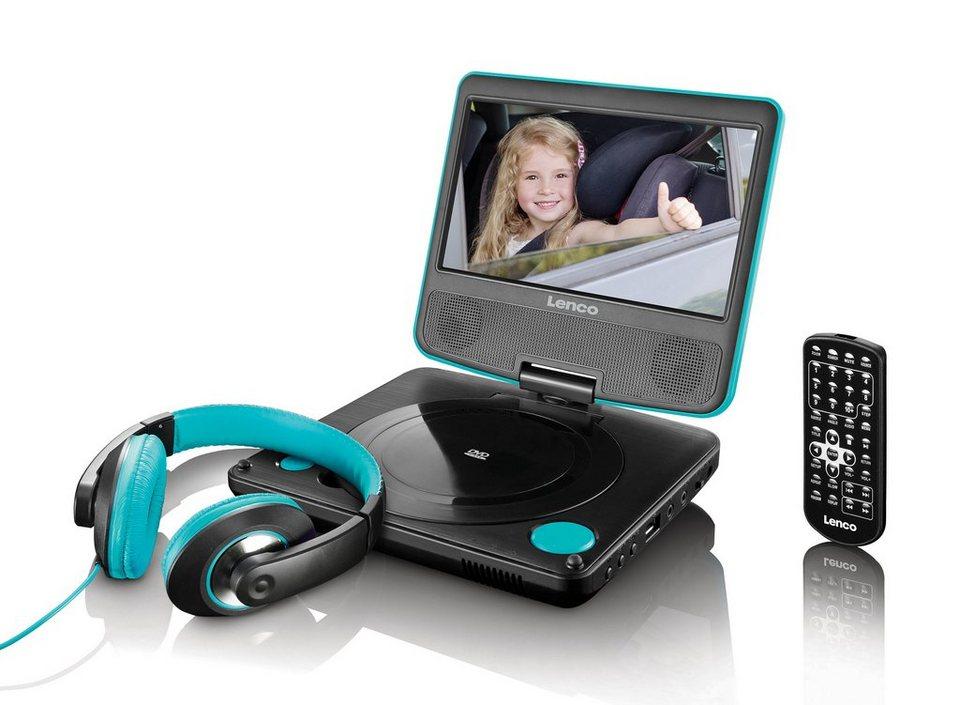 lenco tragbarer dvd player inkl kopfh rer fernbedienung. Black Bedroom Furniture Sets. Home Design Ideas
