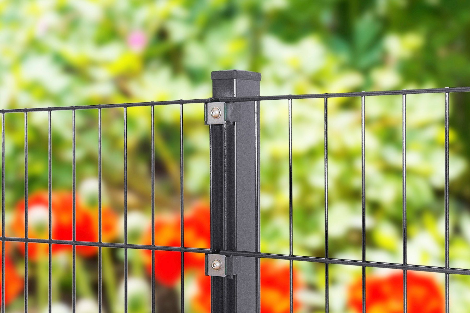 PEDDY SHIELD Zaun »Einzelstabmatte«, Breite: 200 cm, anthrazit