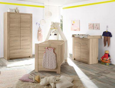 komplett babyzimmer hamburg babybett wickelkommode 2 trg kleiderschrank 3 tlg in. Black Bedroom Furniture Sets. Home Design Ideas