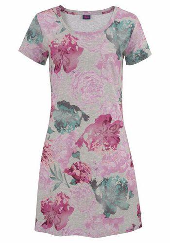 Damen Buffalo Nachthemd mit Rosen-Print bunt,mehrfarbig | 04893962417193