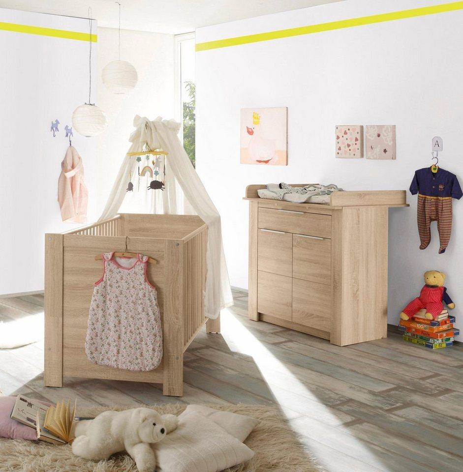 Babymöbel Set Hamburg 2 Tlg Bett Wickelkommode Online Kaufen