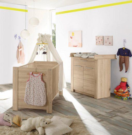 babym bel set hamburg 2 tlg bett wickelkommode. Black Bedroom Furniture Sets. Home Design Ideas