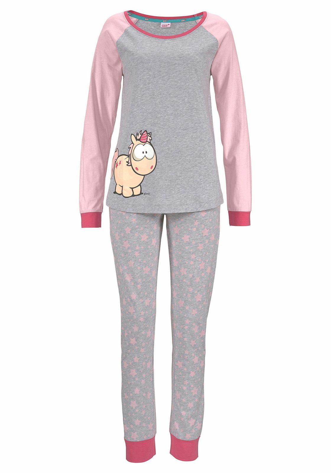 NICI Pyjama mit Einhorn-Print und Sternenmuster