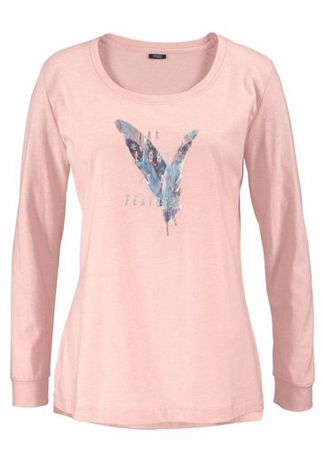 Vivance Dreams Langarmshirt mit Federprint