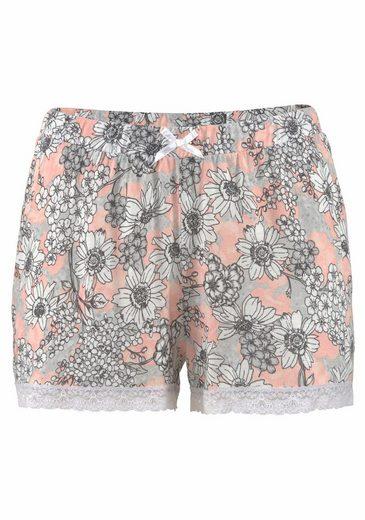 s.Oliver RED LABEL Bodywear Shorty mit geblümter Shorts