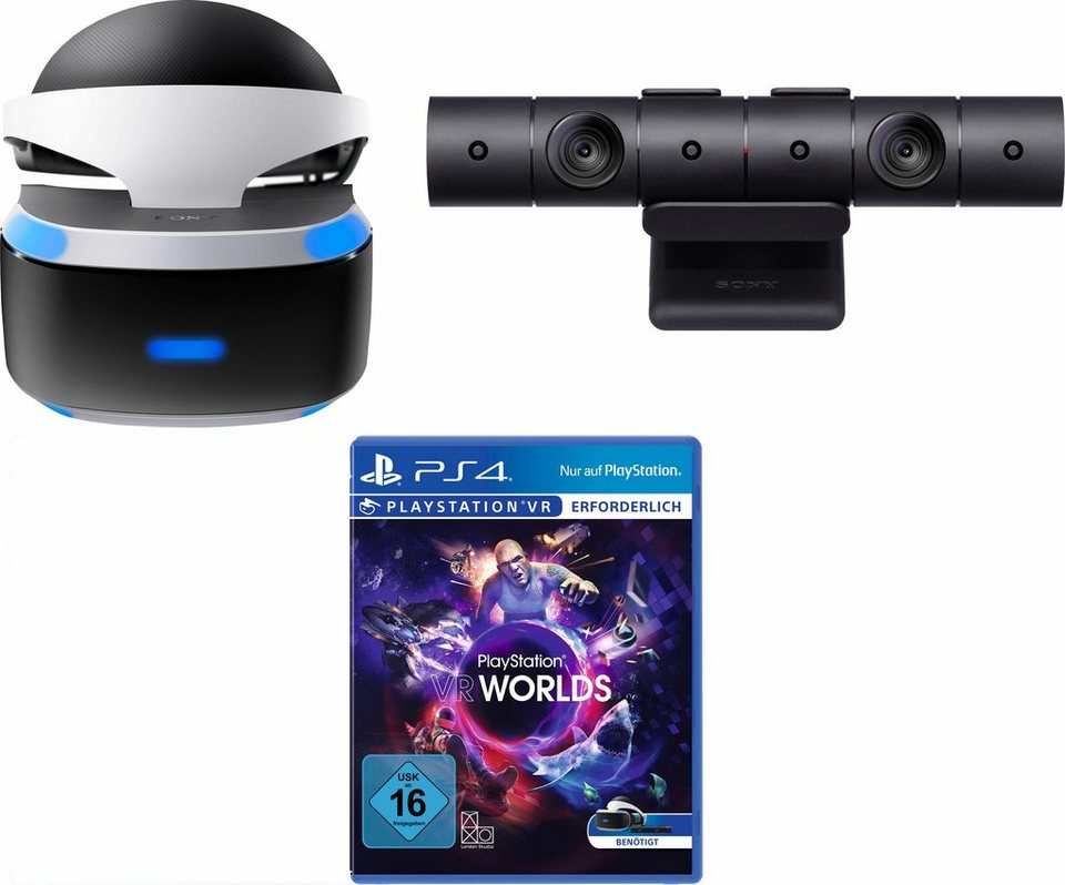 playstation vr brille vr worlds dlc ps4 kamera. Black Bedroom Furniture Sets. Home Design Ideas