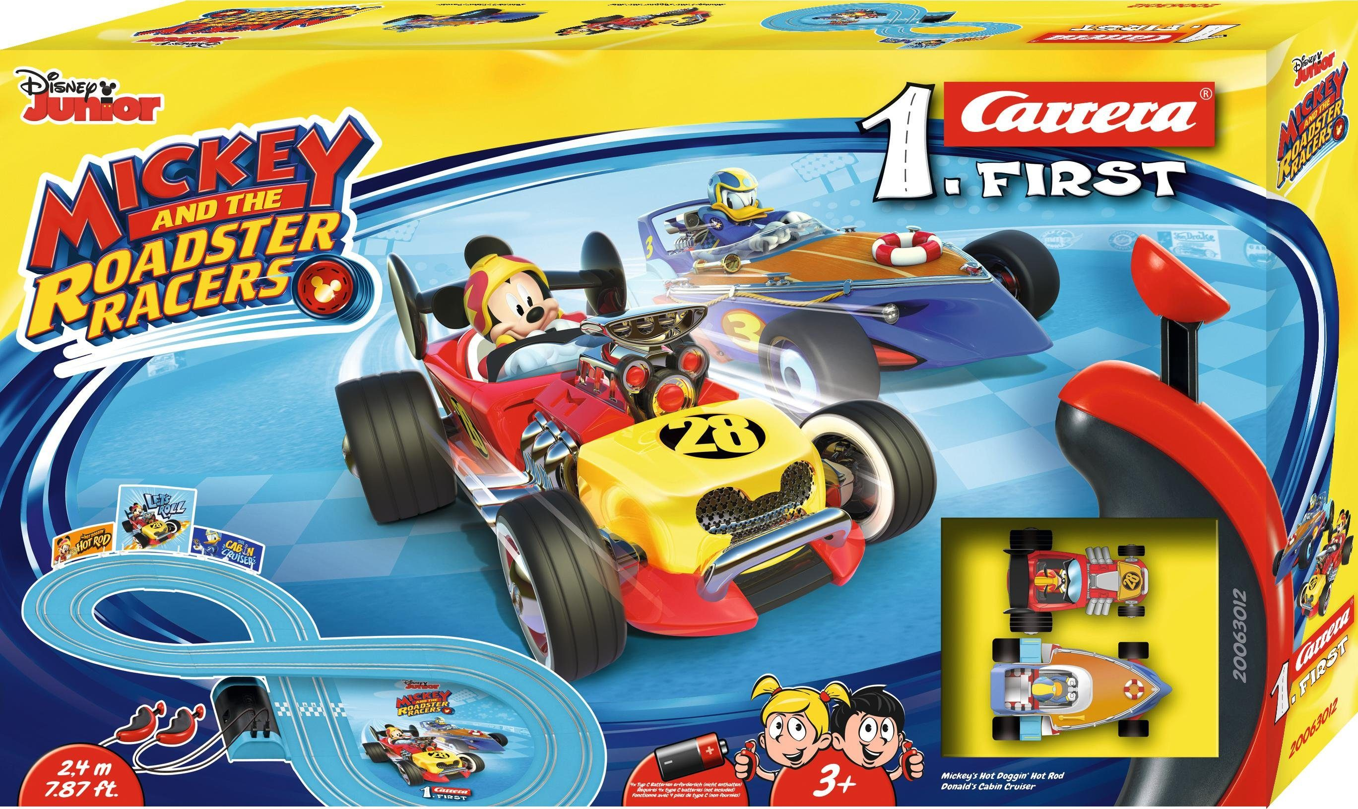 Carrera Autorennbahn für Kinder, »Carrera® First Mickey and the Roadstar Racers«